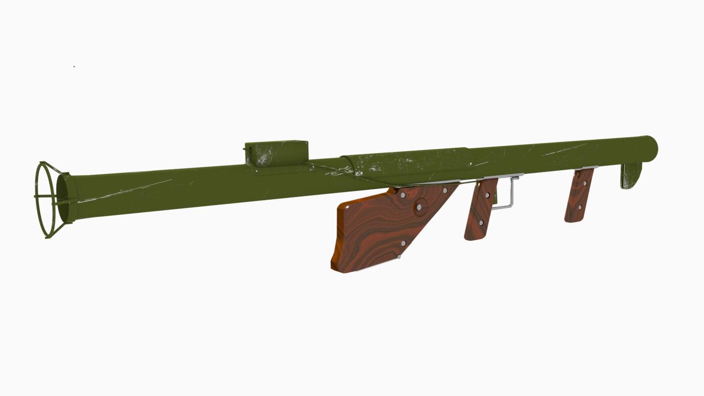 m1 bazooka military green 3d blend
