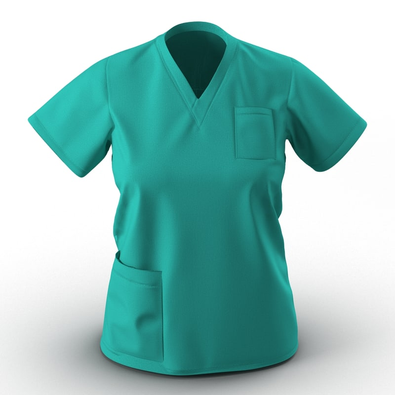 female surgeon dress 9 3d 3ds