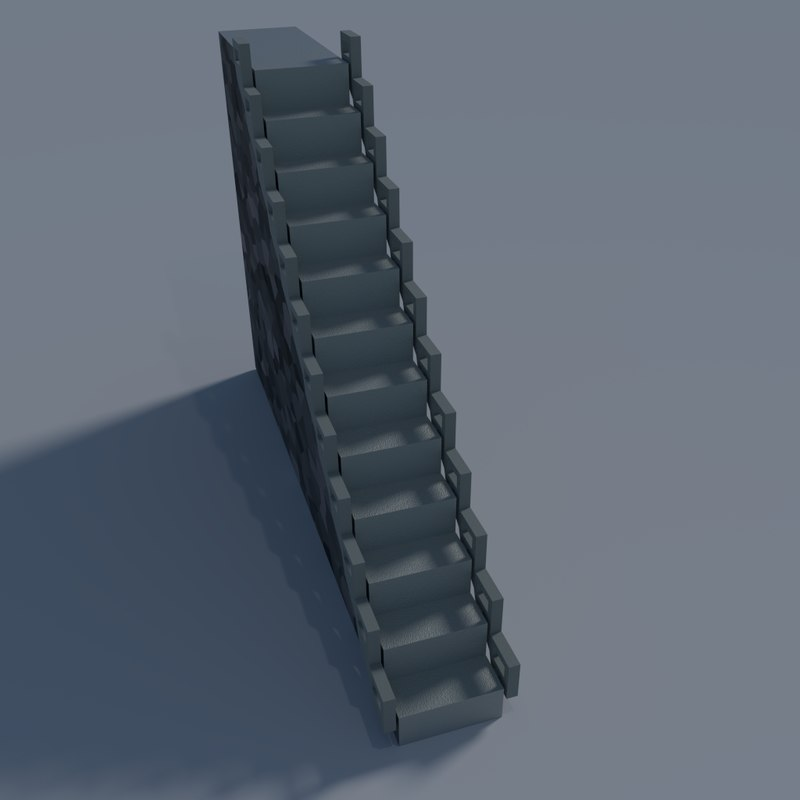 basic stairs 3d model