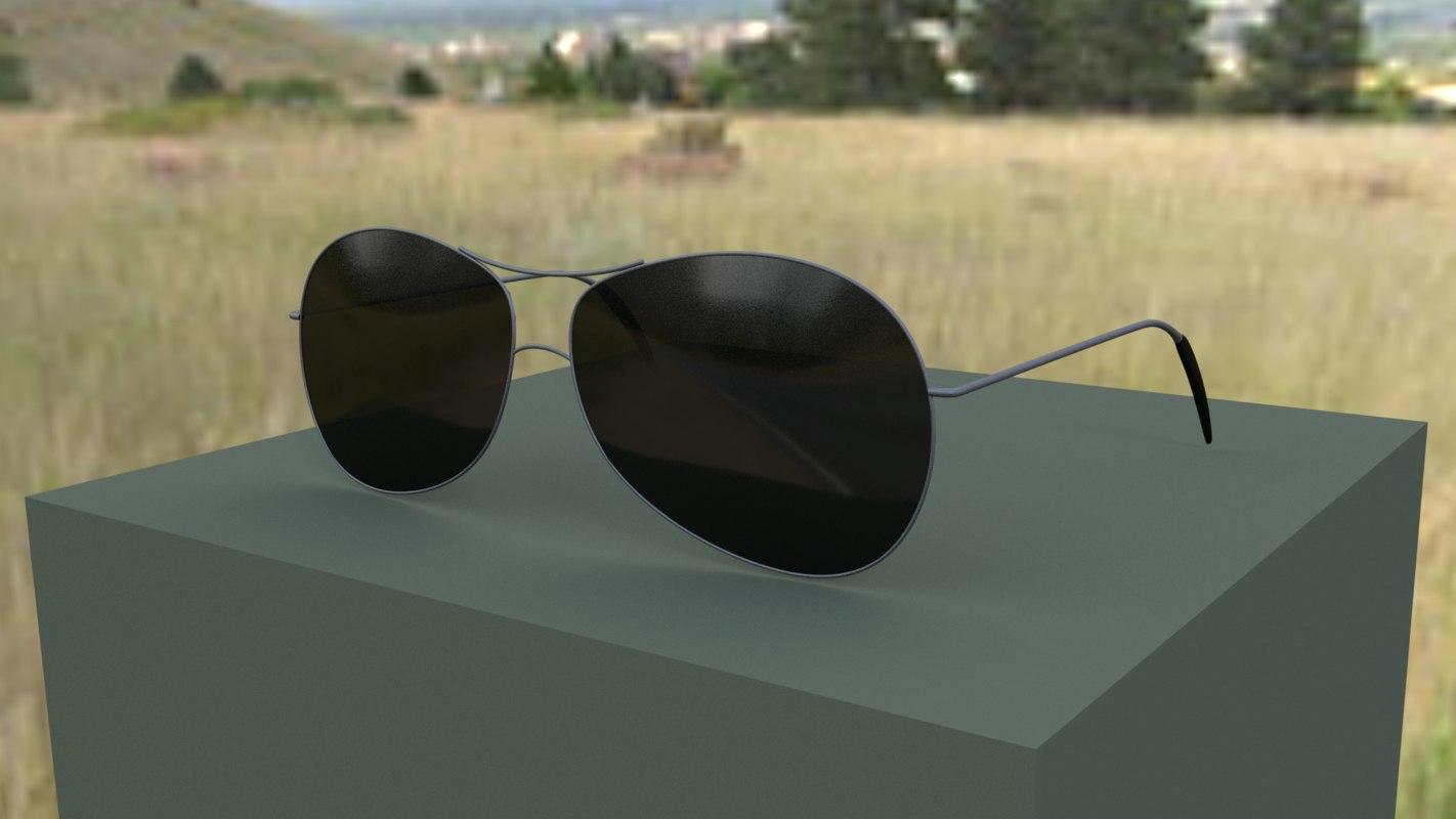 aviator sunglasses 3d blend