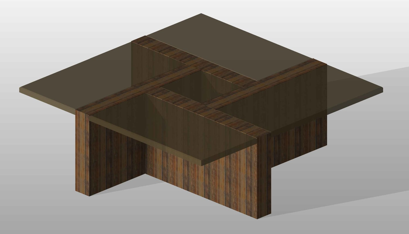 3d modern coffee table 04 model