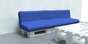 sofa pallet 3d 3ds