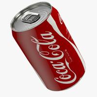 3d realistic coca-cola aluminum model