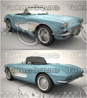 3d chevrolet corvette 1961