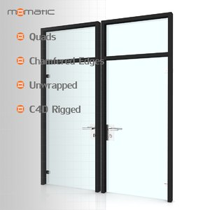 3d model glass door