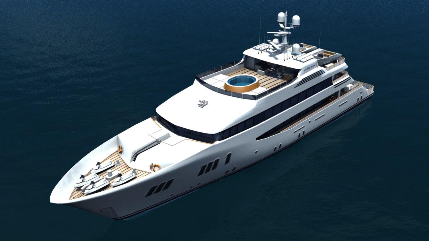 yacht carpe diem 3d model