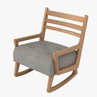 oliver armchair 3d model