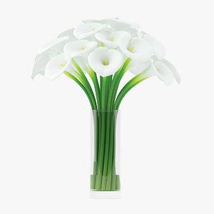 calla lilies flower 3d max