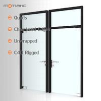 3d fbx glass door