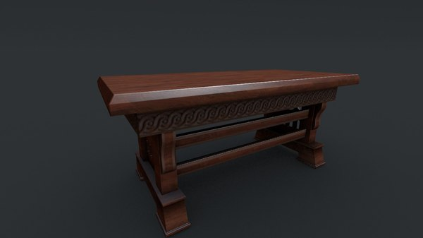 gothic table 3d model