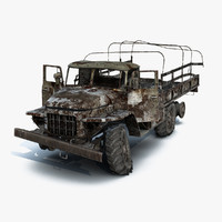 Ural-375 Flatbed Burnt