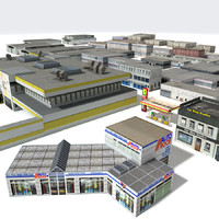 building cities houses 3d model