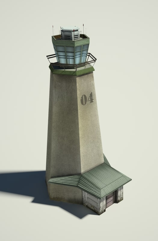 military tower 3d obj