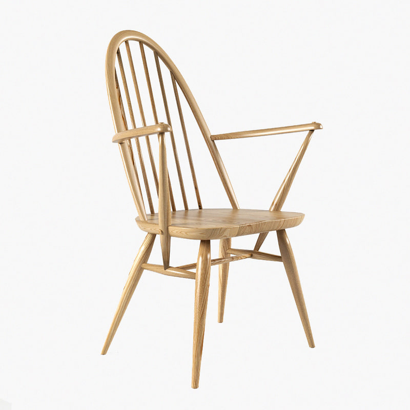 3d model quaker chair wood