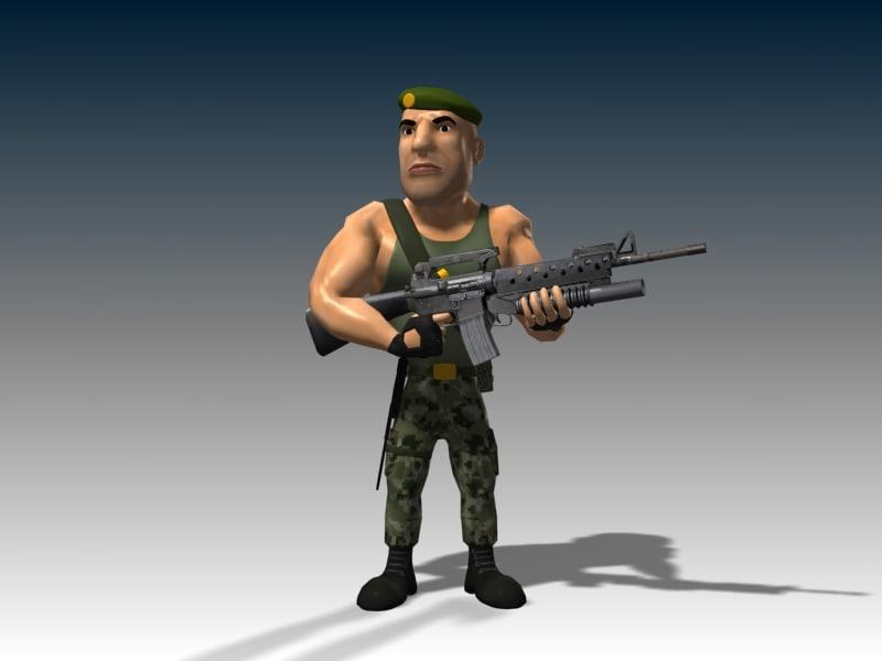3d model captain james animation