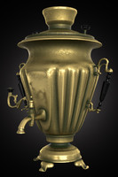 samovar metal container 3d max