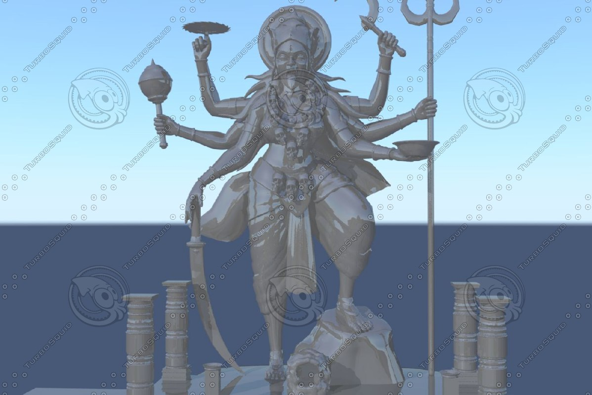 3d model indian kalikha matha