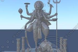 3d model indian kalikha matha