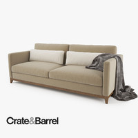 Crate and Barrel Taraval 2 Seat Sofa