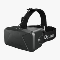 rift vr goggle 3d model