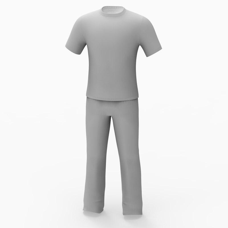 man clothing 3d obj
