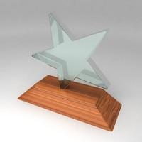 awards trophies 3d max