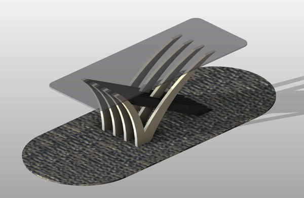 3d model modern dining table 06