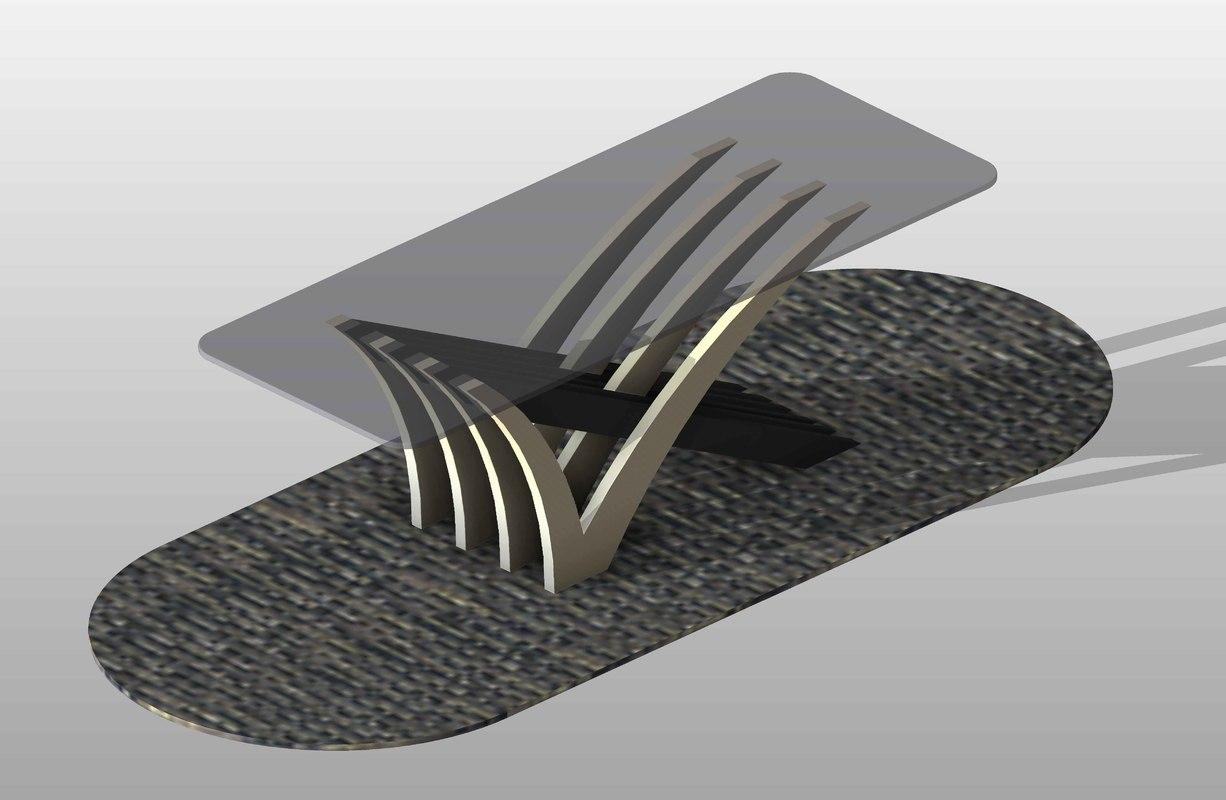 3d model modern dining table 06