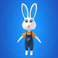 3ds max bunny rabbit bun