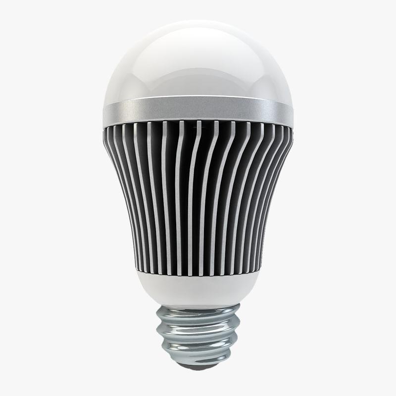 led lightbulb light bulb c4d