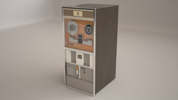 old magnetic tape 3d model
