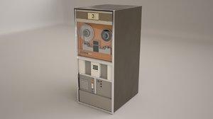 old magnetic tape 3d model