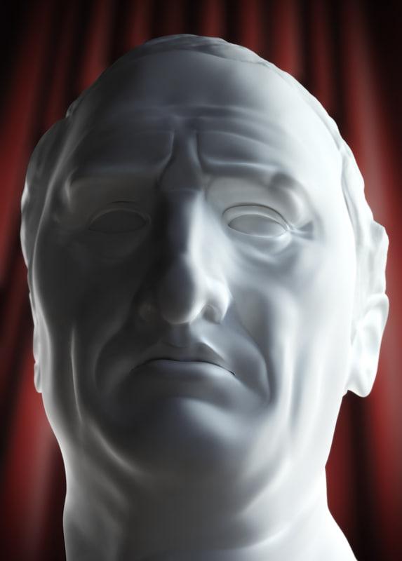 3d bust marcus tullius cicero model