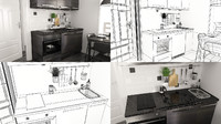 small kitchen 3d max