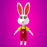 3dsmax bunny rabbit bun