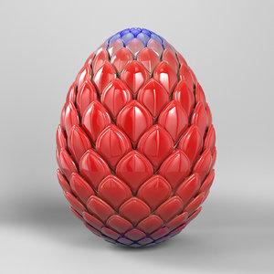 3d model robot dragon egg