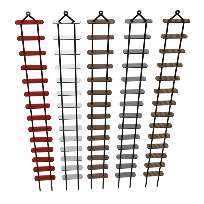 rope ladder 3d obj