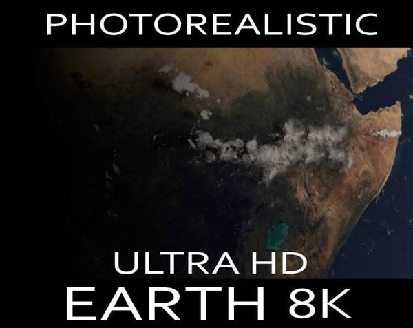 ultra hd realistic earth 3d model
