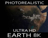 ultra hd realistic earth 3d model