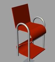 3d plastic chair model