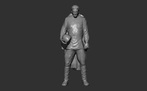 russian soviet soldier 3d model