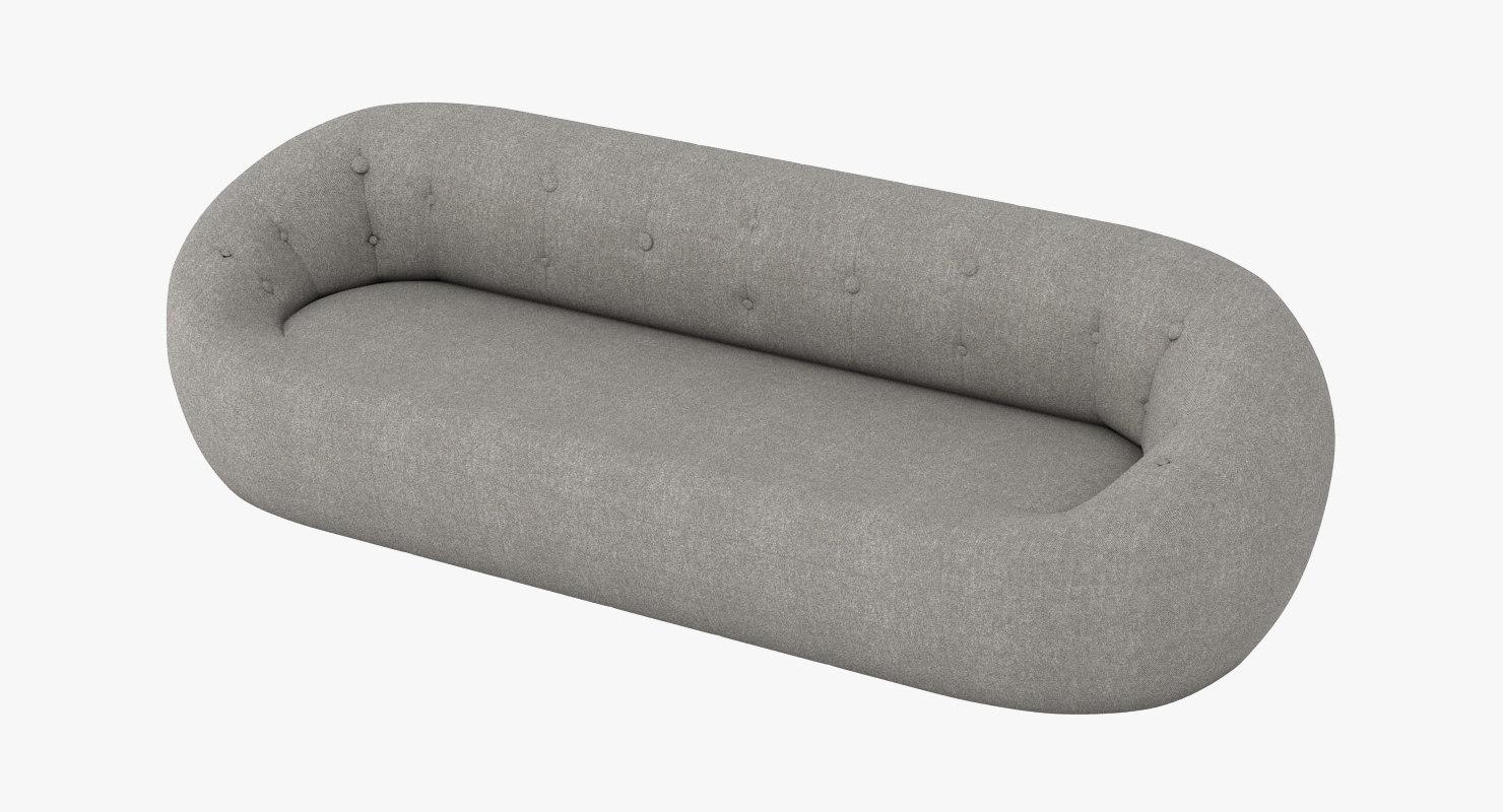 capsule sofa ceres 3d model
