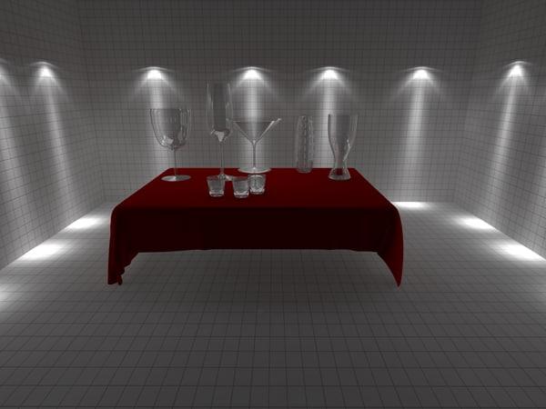 3d model of polly glasses