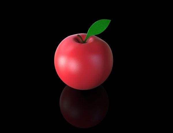 apple cute 3d model