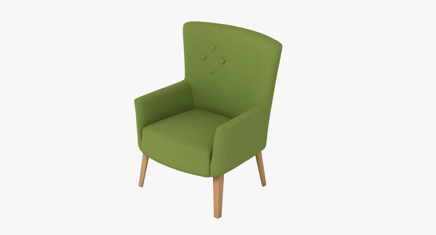 3d model love chair camphill -
