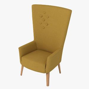3d model lovedup chair - steel