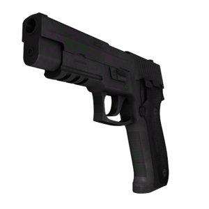 3ds max 45mm handgun
