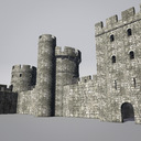 Modular Round Castle Towers Creation Set