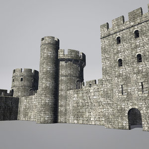 blender tower set castle