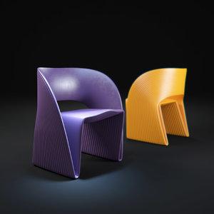 3d max ravioli-chair